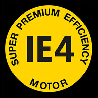 Logotip pogonskog motora Super Premium Efficency IE4